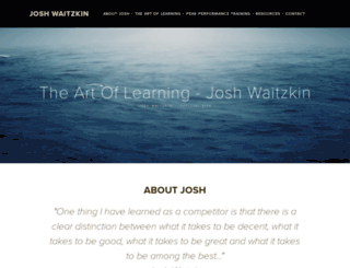 joshwaitzkin.com screenshot