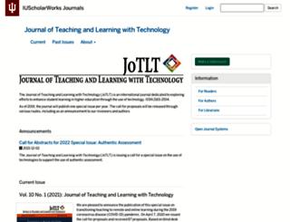 jotlt.indiana.edu screenshot