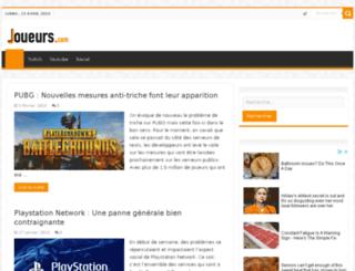 joueurs.com screenshot