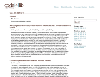 journal.code4lib.org screenshot