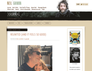 journal.neilgaiman.com screenshot