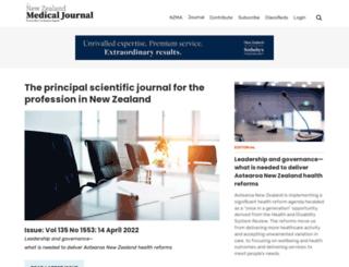 journal.nzma.org.nz screenshot
