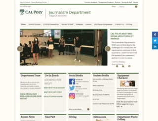 journalism.calpoly.edu screenshot