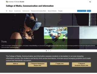 journalism.colorado.edu screenshot