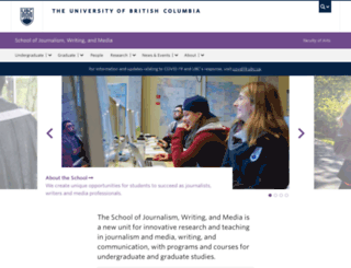 journalism.ubc.ca screenshot