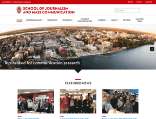 journalism.wisc.edu screenshot