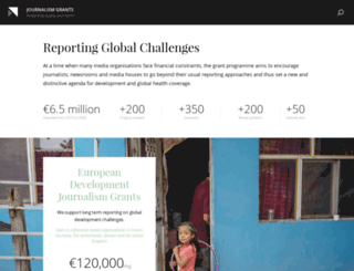 journalismgrants.org screenshot