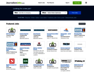 journalismjobs.com screenshot