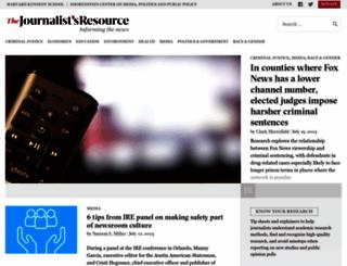 journalistsresource.org screenshot
