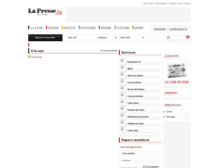 journallapresse.tn screenshot
