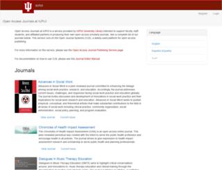 journals.iupui.edu screenshot