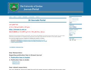 journals.ju.edu.jo screenshot