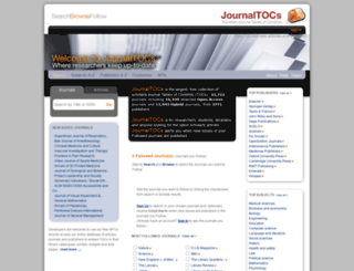 journaltocs.com screenshot