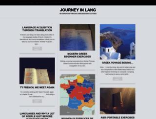 journeyinlang.wordpress.com screenshot