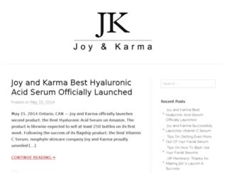 joyandkarmablog.com screenshot