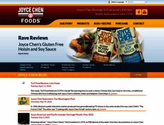 joycechenfoods.com screenshot