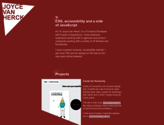 joycevherck.com screenshot