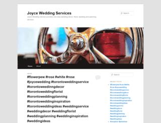 joyceweddingservices.wordpress.com screenshot
