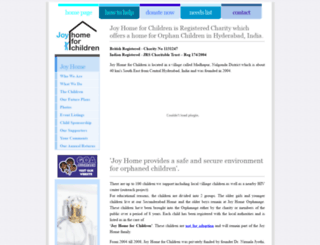 joyhomeforchildren.com screenshot