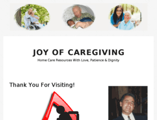 joyofcaregiving.com screenshot