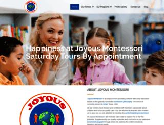 joyousmontessori.com screenshot