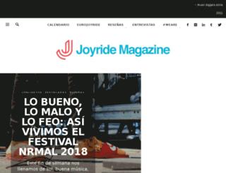 joyridemx.com screenshot