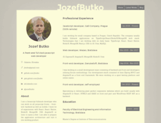 jozefbutko.com screenshot