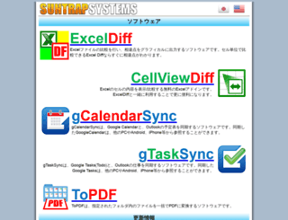 jp.suntrap-systems.com screenshot