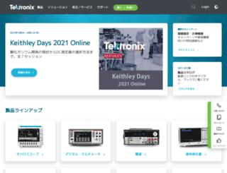 jp.tek.com screenshot