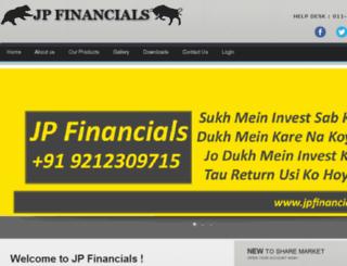 jpfinancials.in screenshot
