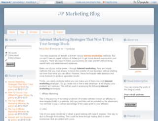 jpmarketing.blog.co.uk screenshot