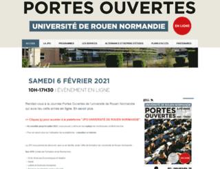 jpo.univ-rouen.fr screenshot
