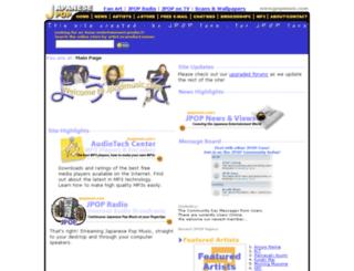 jpopmusic.com screenshot
