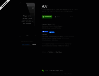 jqtouch.com screenshot