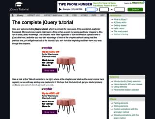 jquery-tutorial.net screenshot