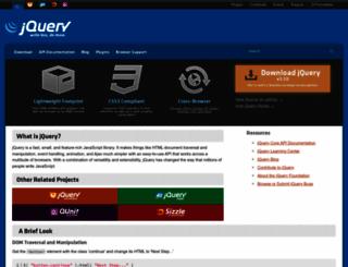 jquery.com screenshot