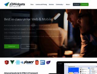 jqwidgets.com screenshot