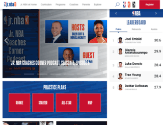 jr.nba.com screenshot