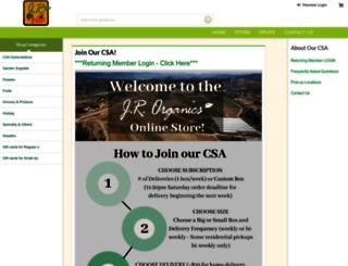 jrorganics.csaware.com screenshot