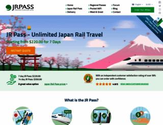 jrpass.com screenshot
