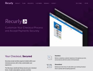 js.recurly.com screenshot