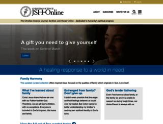 jsh.christianscience.com screenshot