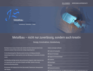 jsmetallbau.de screenshot