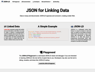 json-ld.org screenshot