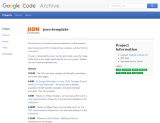 json-template.googlecode.com screenshot