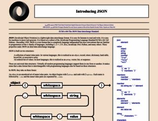 json.org screenshot