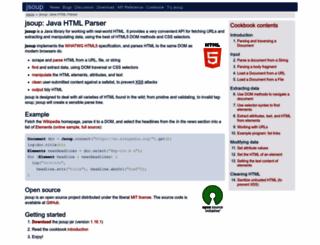 jsoup.org screenshot