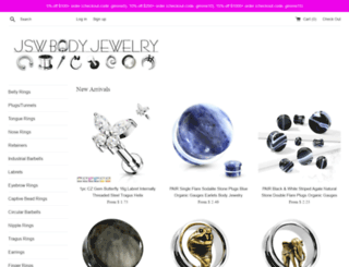 jswbodyjewelry.com screenshot