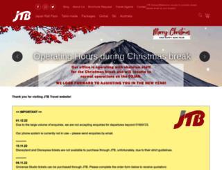 jtbtravel.com.au screenshot