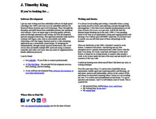 jtimothyking.com screenshot